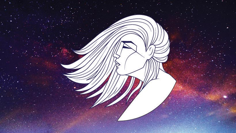 A graphic of the zodiac sign virgo.