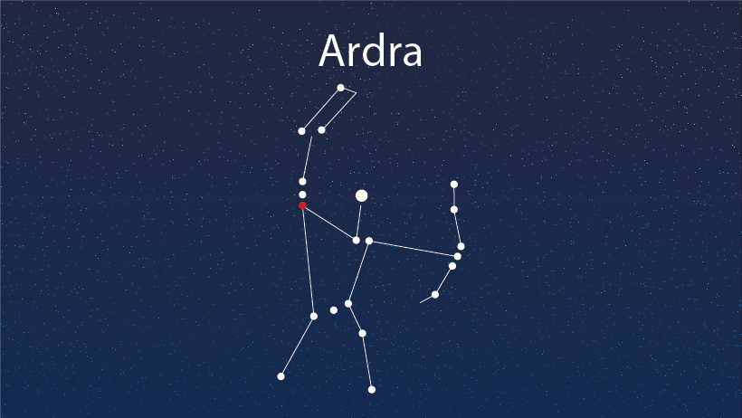 A star constellation of ardra.